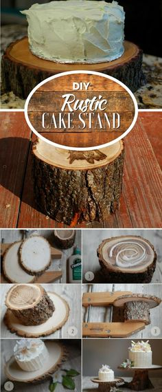 Check out how to make this adorable DIY rustic cake stand @istandarddesign