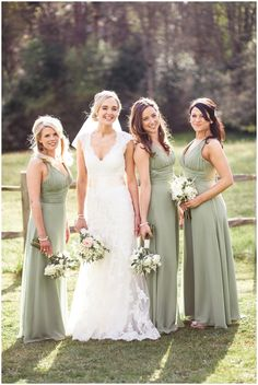 sage green bridesmaids dresses