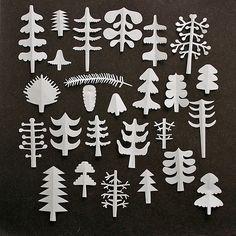Árboles de papel #inspiración #navidad
