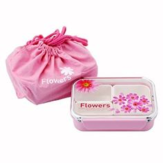 CuteZCute Bento Lunch Box with a Pink Bag, 650ml