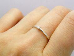 d451f7d27 Stříbrný prsten s diamantem 2 mm, G, VS / Zboží prodejce soamijewelry