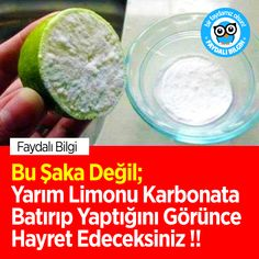 Bu Şaka Değil; Yarım Limonu Karbonata Batırıp Yaptığını Görünce Hayret Edeceksiniz !! #limon #karbonat #sağlık #kadın #faydalıbilgi #bilgi @faydalibilgin
