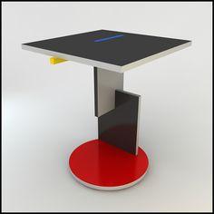 Gerrit Rietveld Schroeder Table De Stijl