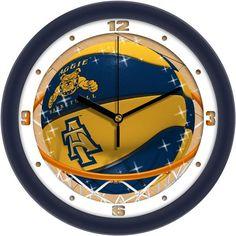 Mens North Carolina A&T Aggies - Slam Dunk Wall Clock