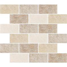 Eliane - Sardegna T-5000 Multicolor Glazed Porcelain Floor & Wall Mosaic Tile  - 10 Inch x 12 Inch Sheet - 8012343 - Home Depot Canada