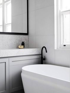 If you have a small bathroom in your home, don't be confuse to change to make it look larger. Not only small bathroom, but also the largest bathrooms have their problems and design flaws. Bathroom Renos, Laundry In Bathroom, Grey Bathrooms, Beautiful Bathrooms, Modern Bathroom, Small Bathroom, Master Bathroom, Bathroom Vanities, Gold Bathroom
