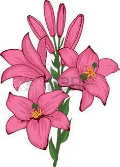 fleur peinture: belles fleurs de lys, illustration aquarelle