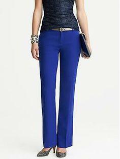$110.00 - Martin-Fit Cobalt Wool Trouser | Banana Republic