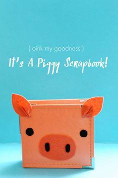 Scrapbook Sunday: Oink My Goodness! (A Beautiful Mess)