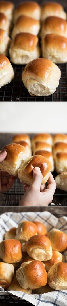 Hokkaido Milk Rolls - This will be the last dinner rolls recipe you'll ever need. Amazingly soft, light & fluffy. I guarantee.