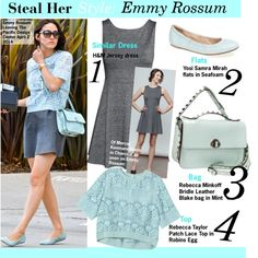 """""""Steal Her Style:Emmy Rossum"""" by kusja on Polyvore"""