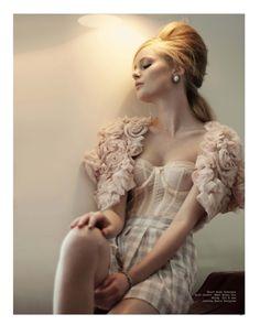 What Katie Did silk corset, Ell & Cee silk shrug