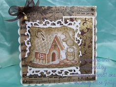 For this weeks card I decided to use a House Mouse stamp (surprise surprise lol), I have coloured it in with fleximarkers, inked the edges with distress ink and used a glue pen and embossing powder fromKirsten Lapping Designsto highlight the edges of the image and a couple of the sweets on the gingerbread house. The background is a paper from the Tim Holtz Christmas Kraft paper pack and then I have used a holly background stamp from All Night Media on to a scrap of mount board and embossed… House Mouse Stamps, Mount Board, Surprise Surprise, Embossing Powder, Hedgehogs, Distress Ink, Kraft Paper, Tim Holtz, Mice