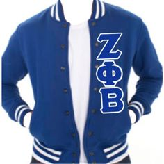 ZETA PHI BETA Heavy Terry Club Jacket Royal