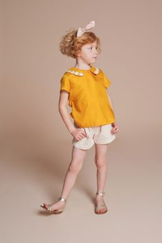 Lace textured shorts at Hucklebones kidswear for spring 2014