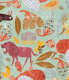 By Masha Manapov Textiles, Textile Patterns, Print Patterns, Surface Pattern Design, Pattern Art, Pattern Illustration, Graphic Illustration, Collages, Texture Photography