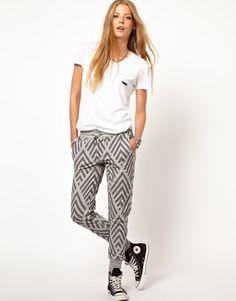 Zoe Karssen Chevron Sweatpants #15things #trending #fashion #style #grey #50shadesofgrey #ZoeKarssen