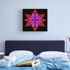 """Lotus Star Design"" Canvas Print by Pultzar   Redbubble"