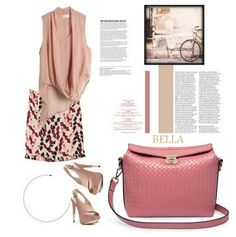 Poseta piele naturala BELLA ROSE Polyvore, Bags, Fashion, Handbags, Moda, Fashion Styles, Fashion Illustrations, Bag, Totes