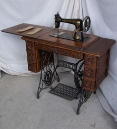 My Grandmother had a Singer sewing Machine. I loved pushing the pedal with my hands.. Too small to reach with my feet!!