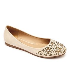 Love this Machi Footwear Beige Pearina Flat by Machi Footwear on #zulily! #zulilyfinds