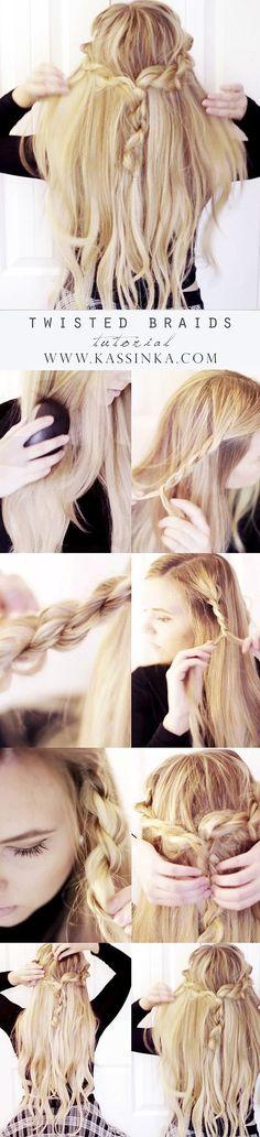 Pretty Braided Crown Hairstyle Idea