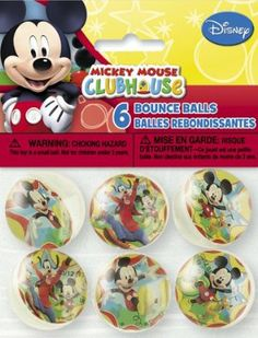Mickey Mouse Clubhouse Party Favors - 6 Bounce balls by Unique. $6.79. 6 ct. Bounce balls. Party Favors. Mickey Mouse Clubhouse Theme. Each package contains 6 Bounce balls