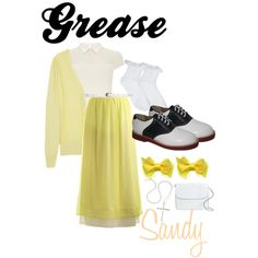 """Grease; Sandy"" by toinfinityandbeyondxo on Polyvore"