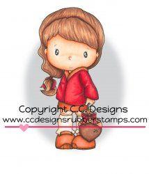 *New C.C. Designs Swiss Pixie Abigail's Acorn Rubber Stamp