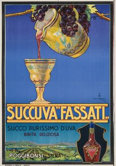 Author Mazzini Ettore Format Vertical Country Italy Year of poster 1927 Vintage Wine, Vintage Labels, Vintage Ads, Wine Advertising, Advertising Poster, Vintage Italian Posters, Wine Poster, Art Nouveau Poster, Illustrations And Posters