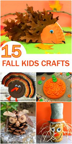 15 Fun Fall Kid Crafts Roundup, Turkey Crafts, Owl Crafts, Fall Crafts