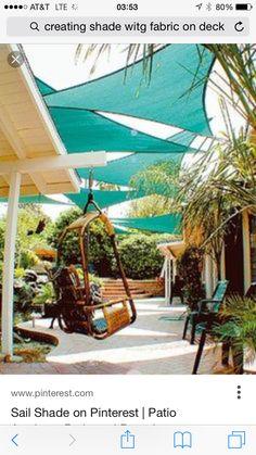 Ideas backyard shade sails pergolas for 2019 Ideas backyard shade sails pergola. Backyard Shade, Outdoor Shade, Patio Shade, Backyard Patio, Garden Shade, Shade Ideas For Backyard, Awning Shade, Pergola Patio, Diy Patio
