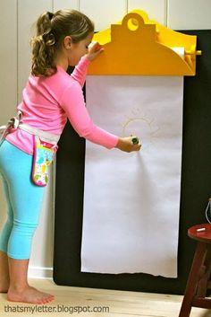 Giant Clipboard Tutorial I think i will make one of this for my house for ko and ky to play
