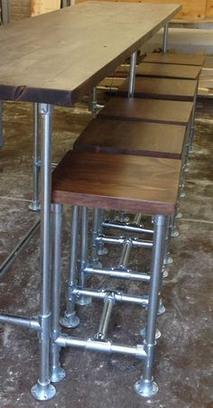 """Industrial Vintage Scaffold Style Pipe High Bar Stool by breuhaus """"Build Me"""""""