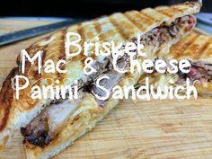 MothersBBQ | Brisket Mac and Cheese Panini Sandwich