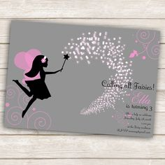 "For a ""fairy ballerina"" party $10 printable file"