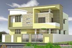 Kerala home design and floor plans: Modern house designs