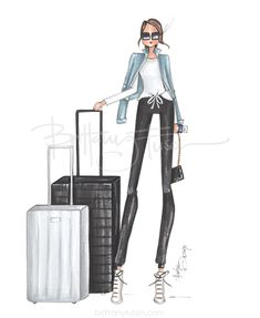 Brittany fuson: terminal a Denim Jacket Fashion, Denim Outfit, Look Fashion, Fashion Art, Fashion Design, Ballet Fashion, Travel Clothes Women, Travel Outfit Summer, Fashion Figures