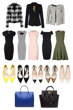 """Corporate America: Office Chic"" by aliciancook ❤ liked on Polyvore featuring moda, Roland Mouret, Ted Baker, Reiss, Prabal Gurung, Moschino, Zara, Benetton, Versace y Michael Kors"