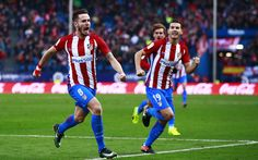 Download wallpapers Saul Niguez, Lucas Hernandez, Atletico Madrid, footballers, La Liga, soccer