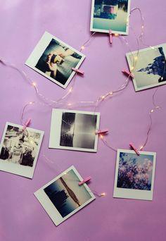 DIY guirlande lumineuse polaroids