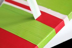 Star Christmas Canvas (And How to Paint Perfect Stripes!)