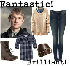 """""""Dr. John Watson"""" by k-strautz ❤ liked on Polyvore Just in case anyone else has wanted to dress like the awesome John Watson"""
