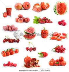 Beautiful Red 1st Chakra foods<3
