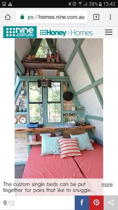 Tiny Houses, Canning, Bed, Furniture, Home Decor, Small Homes, Decoration Home, Stream Bed, Room Decor