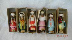 Vintage Disneyland Wooden It's A Small World Souvenir Dolls
