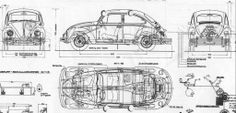 Medidas VW typ 1 1971