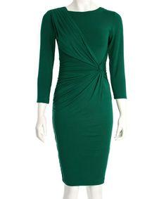 Look what I found on #zulily! Forest Green Jacey Dress #zulilyfinds