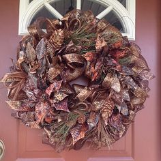 Christmas wreath - Christmas in Copper by BellaFioreDesigns on Etsy https://www.etsy.com/listing/257050991/christmas-wreath-christmas-in-copper