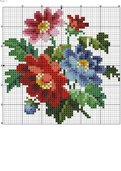 54 Super Ideas For Embroidery Easy Pattern Simple Cross Stitch Cards, Simple Cross Stitch, Cross Stitch Rose, Cross Stitch Flowers, Cross Stitching, Embroidery Leaf, Cross Stitch Embroidery, Embroidery Patterns, Cross Stitch Designs